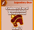 Cashmere Cap of Unsustainable De-Forestation (Legendary)