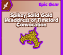 Spikey Solid Gold Headdress of Timelord Convocation