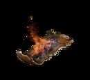 Montón de pino carbón