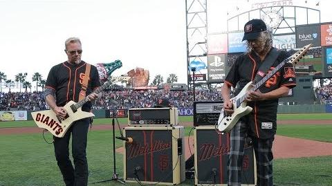 Kirk & James Perform the National Anthem (2017 Metallica Night w the SF Giants)-1502234484