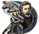 Rey and Luke Skywalker Pin (2017)
