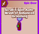 Scrub'n'Spin Auto-Brush of Enhanced Grooming