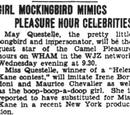 Girl Mockingbird Mimics Pleasure Hour Celebrities