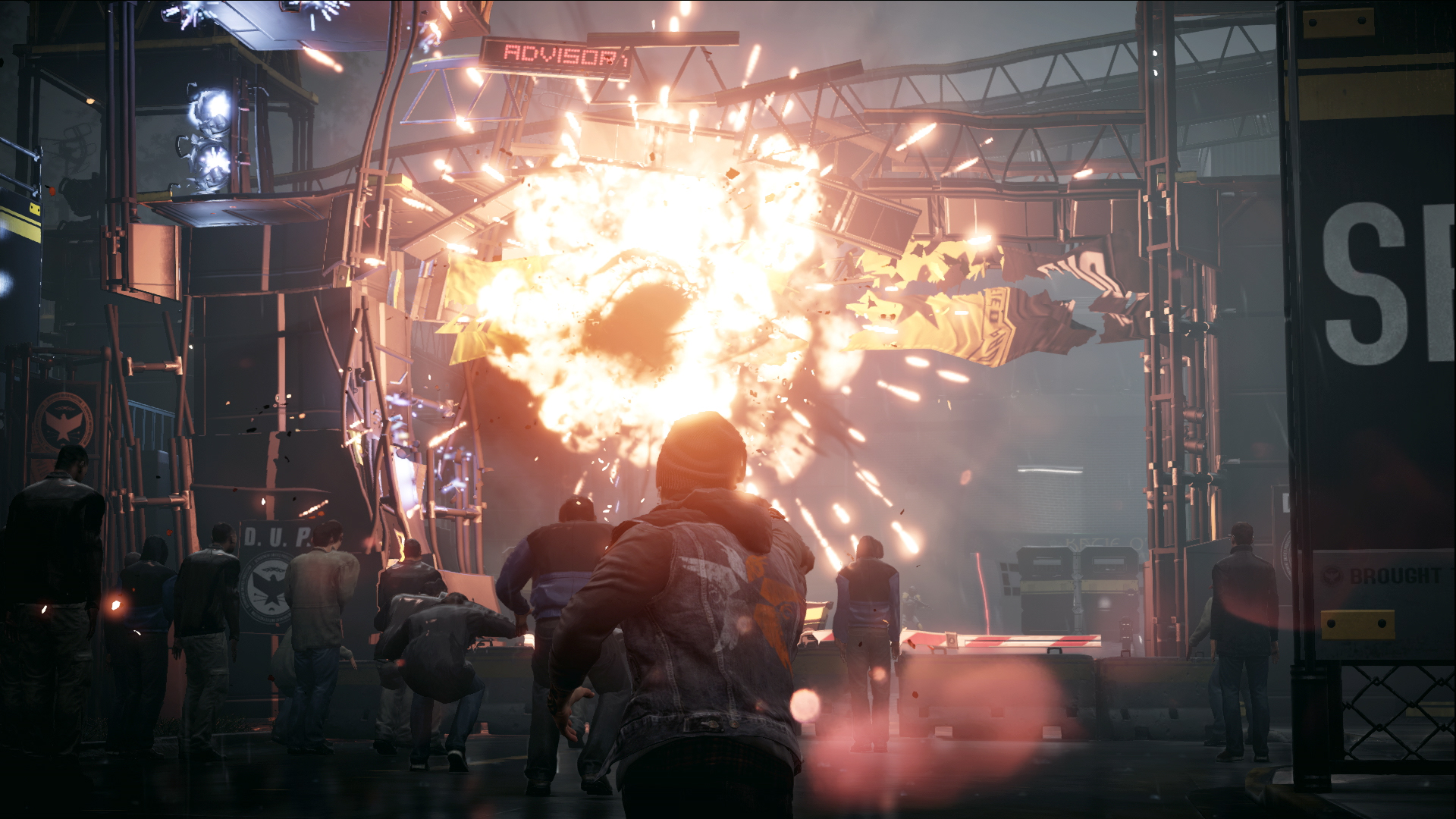 Infamous: Second Son PS4 Screenshot Showing Destruction